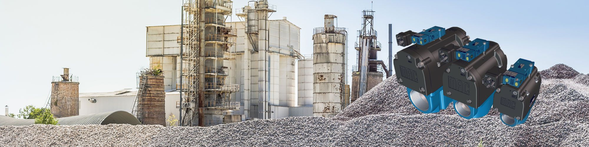 Aggregate plant with Pulse Valves