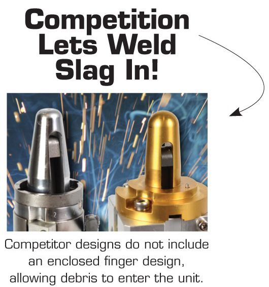 PHD PLK Pin Clamps Keep Weld Slag Out