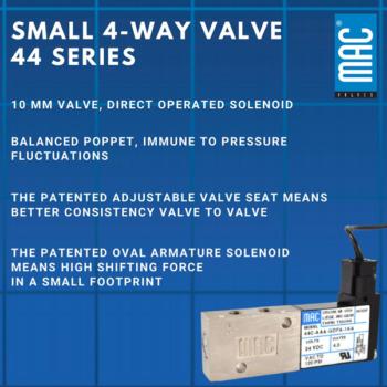 Small 4 way valve